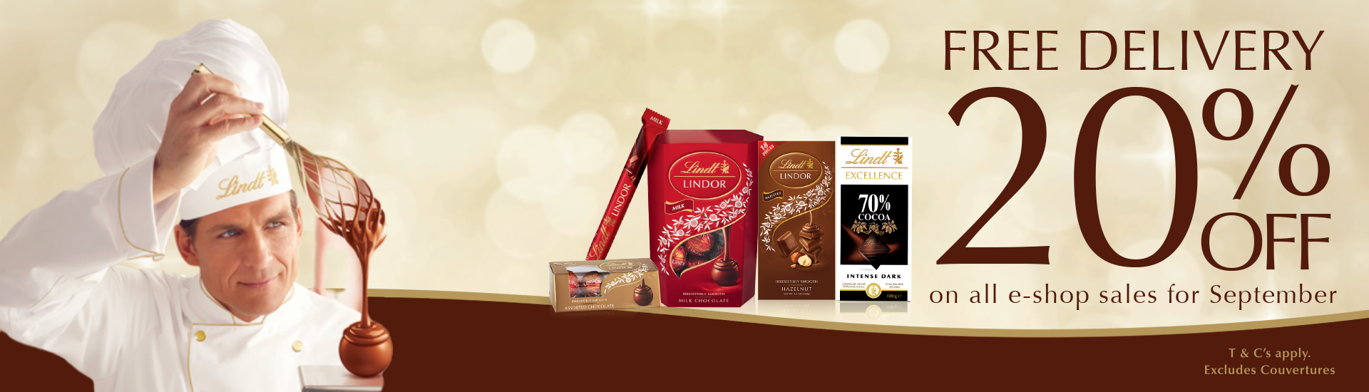 Lindt's 20% off and free shipping